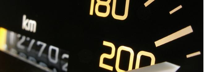 Ab einer Geschwindigkeitsüberschreitungen von 21 km/h werden Punkte verteilt.